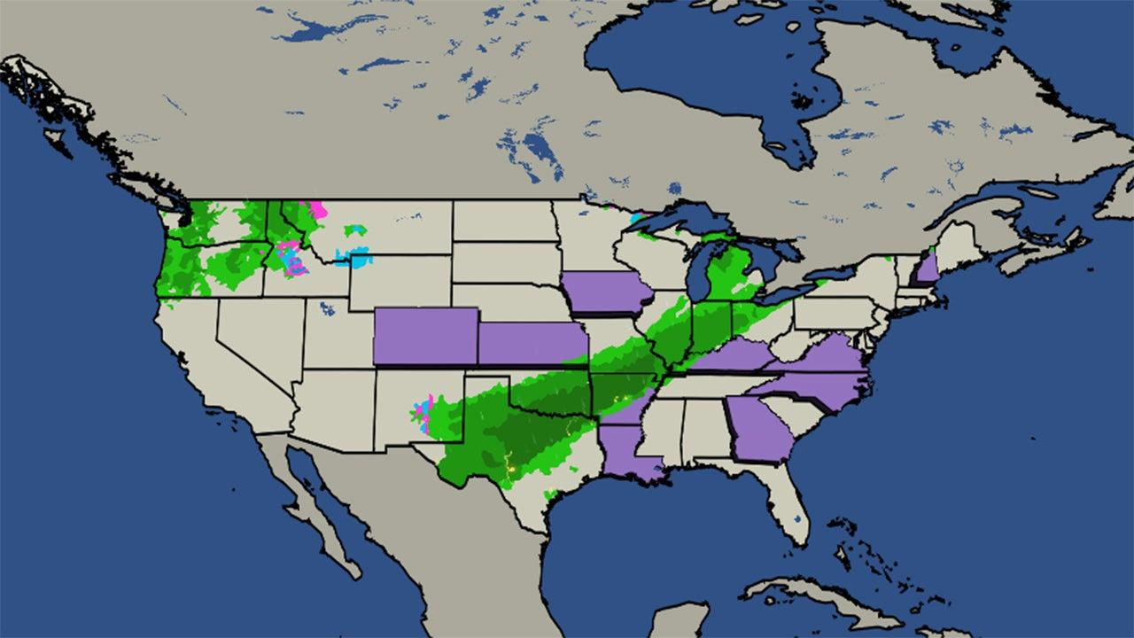 Chicago Illinois USA  Day Weather Forecast US Doppler Radar - Us weather map showing fronts