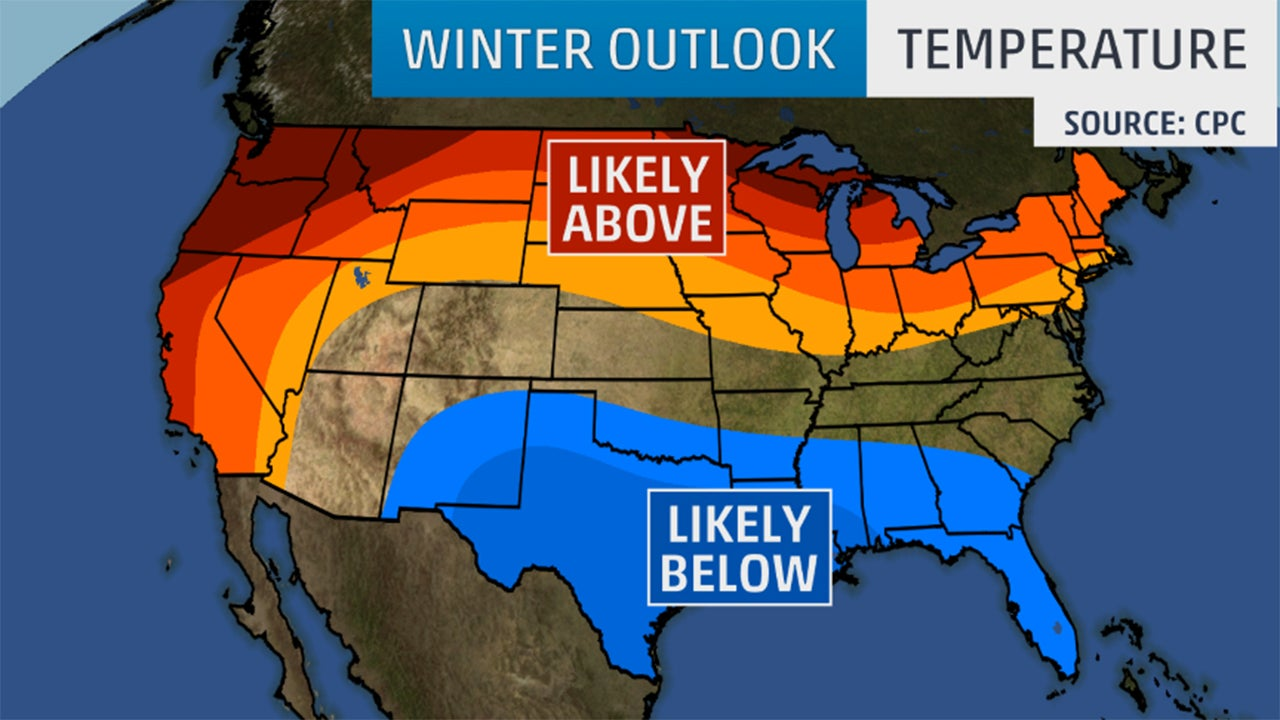 Winter outlook 2015 2016 cold wet south and warm dry for Warm destinations in march
