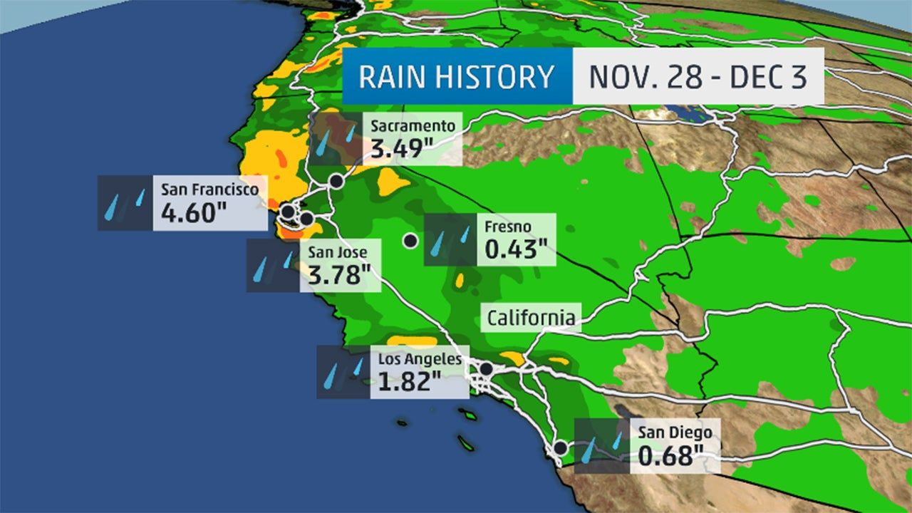 California Rain Mountain Snow Drought Relief Limited – Weather Channel Travel Map