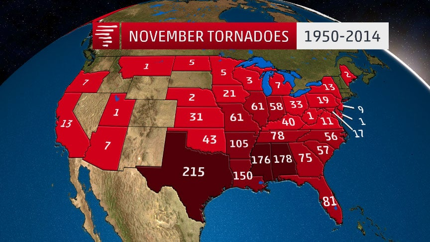 texas tornado map with November Tornadoes Totals State And Largest Outbreaks 20141117 on 70001683 furthermore Important Tornado Tips in addition April Tornado Numbers Keep Climbing But A Quiet Finish Is Ahead also 82 also Severe weather awareness tornadoes.
