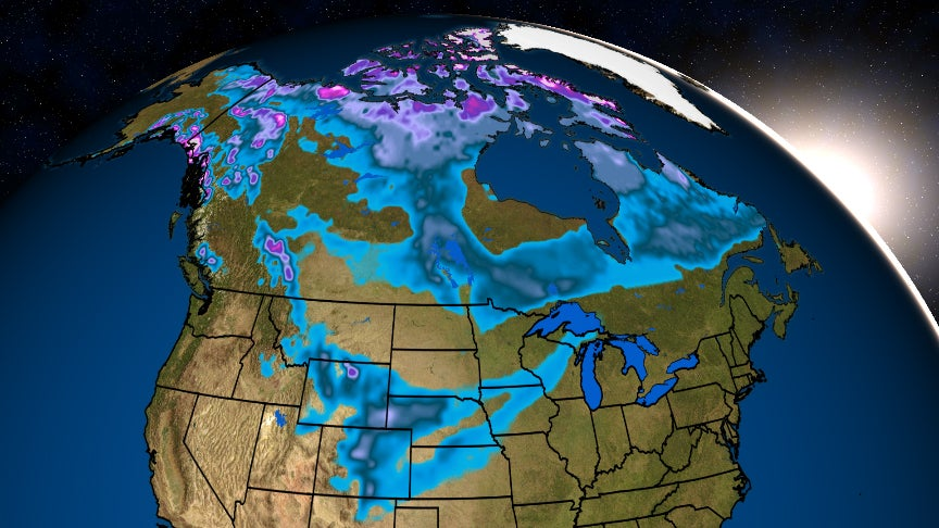North American Snow Cover Is The Most Its Been In Mid