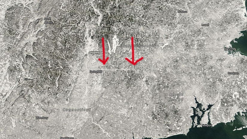 Massachusetts Tornado Scar Visible From Space After Recent