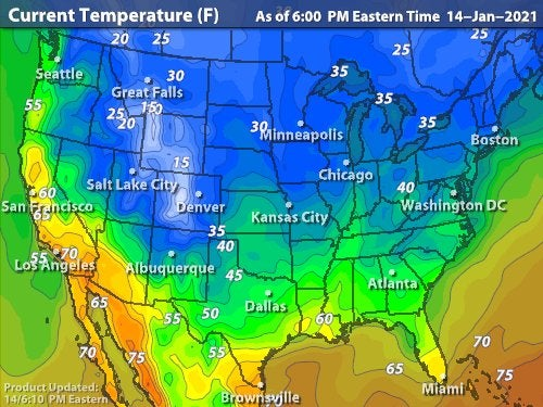 Intellicast - <br> Current Temperatures