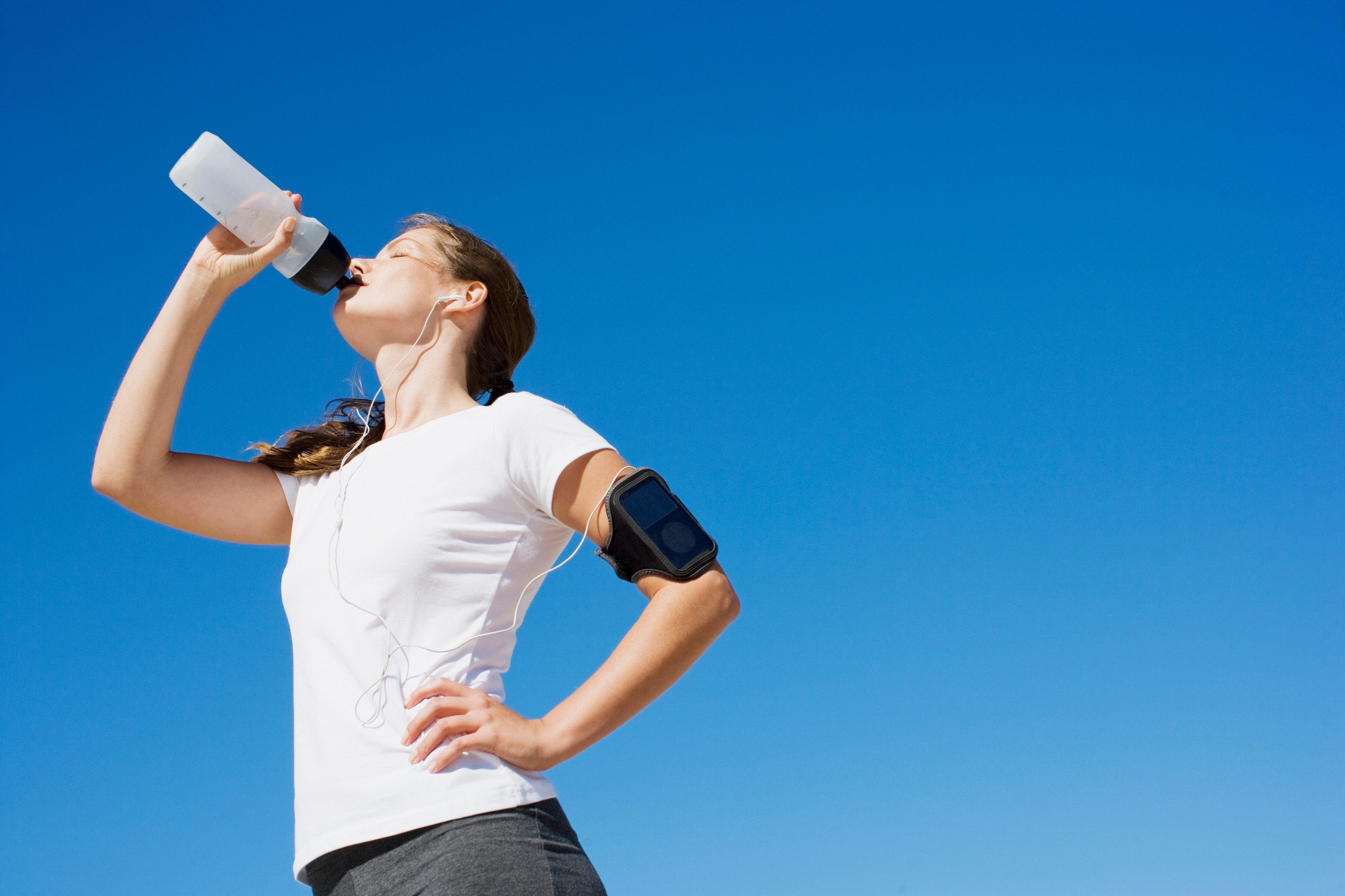 Drinking Water During Running