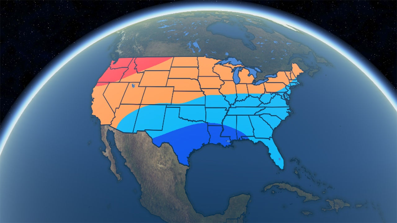 Winter  Outlook Colder South And East Coast Warmer North - Us weather map next week