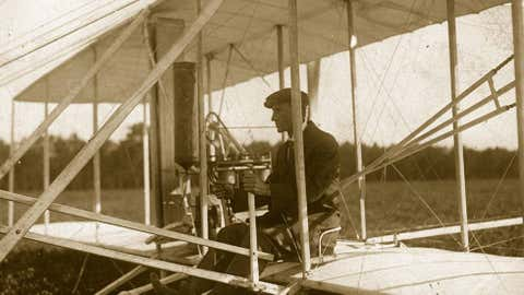 Circa1908:  American pioneer aviator Wilbur Wright. (Branger/Hulton Archive/Getty Images)