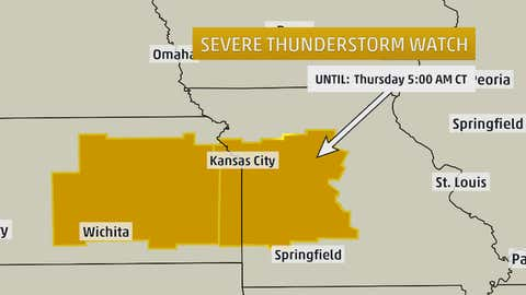 This is an example of a severe thunderstorm watch box.