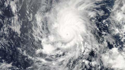 Satellite image taken of Hurricane Amanda on May 25, 2014. (NASA/MODIS)