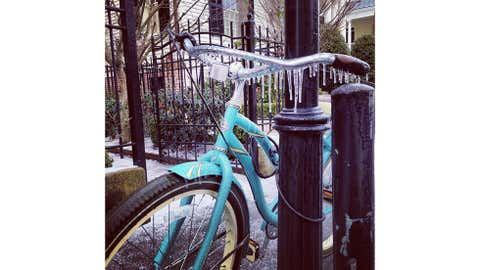 Icicles form in an unusually chilly Charleston, S.C. (Steve Colman)