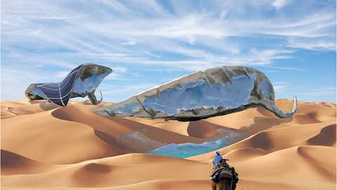 An artist's rendering of the SunGlacier.