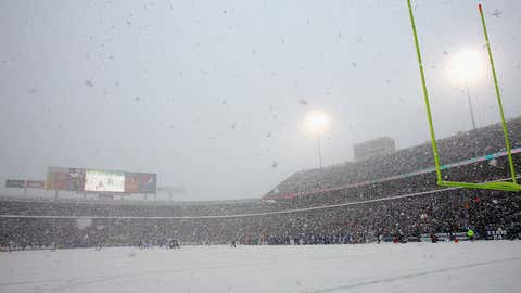 A general view  of the Buffalo Bills playing the Indianapolis Colts in the snow at Ralph Wilson Stadium on January 3, 2010 in Orchard Park, New York.  (Rick Stewart/Getty Images)