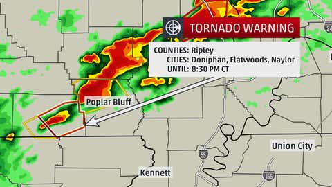 This is an example of a tornado warning box.