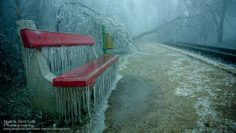 Photographer Mark Mervai captures surreal images of the 12th district of Budapest, Hungary, on December 2014, after icy weather hit the area. (Mark Mervai Photography)