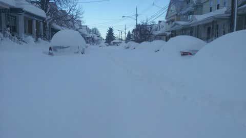 This photo shows lake-effect snow in Buffalo, New York, on November 18, 2014. (John Pitman, Facebook)