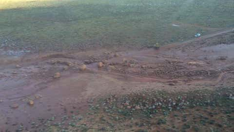 Mud and boulders washed across U.S. Highway 89A near the Grand Canyon and Marble Canyon on Sunday, Aug. 9.  (Arizona Department of Transportation)