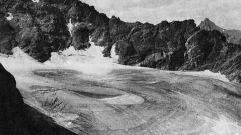 The Aprapaho Glacier in Colorado in 1898. (NASA)