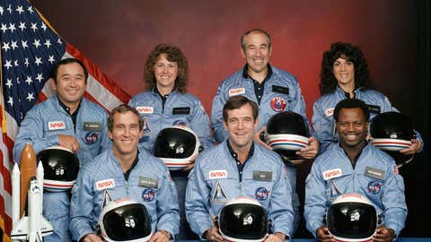 The Space Shuttle Challenger crew