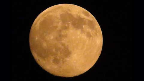 The orange moon spotted over Nancy, Kentucky, Tuesday night. (Bradley Albertson/Twitter)