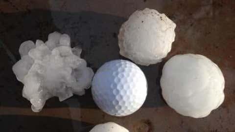 Hail in Rapid City, South Dakota on June 15, 2014. (weather.com user HaydenW)