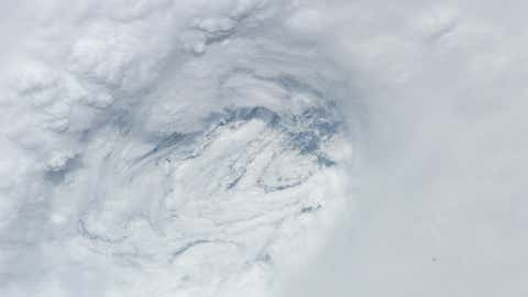 Photo from the International Space Station of Hurricane Rita's eye in the Gulf of Mexico during September 2005. Credit: Image Science & Analysis Laboratory, NASA Johnson Space Center