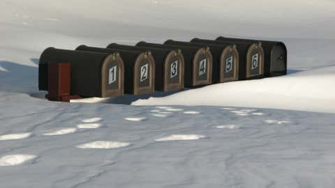 iWitness Guzva84 captured this photo of mailboxes encased in snow in Spearfish, SD.