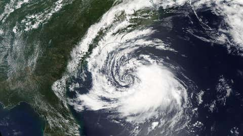 This May 8, 2015 satellite image shows Ana organizing off of the Southeast coast.