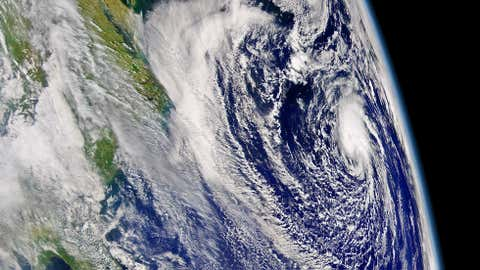 Visible satellite image of Subtropical Storm Ana taken by OrbView-2 satellite on April 20, 2003. Ana would become a tropical storm later on April 20.