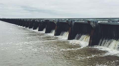 The photo above shows the Bonnet Carre spillway in Louisiana.
