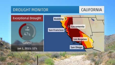 California drought monitor as of May 12, 2015.