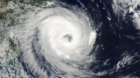 In March 2004, the first south Atlantic tropical cyclone of hurricane intensity in the satellite era was photographed off the coast of Brazil. The system was named Catarina. Credit: NASA