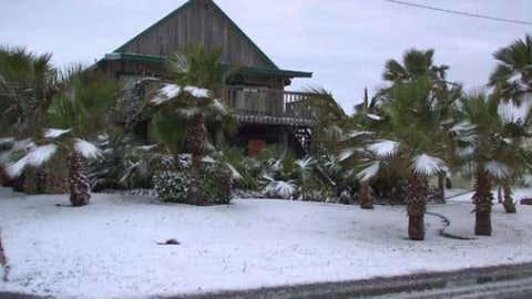 A White Christmas on South Padre Island, Texas on Dec. 25, 2004 (Photo credit:  iWitnessWeather contributor shacam1)