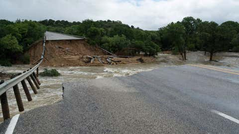 State Highway 6 in Eastland County, Texas, was washed out by floodwaters on June 2, 2016, effectively shutting down the roadway. Engineers with the Texas Department of Transportation were dispatched to the area the following day to assess the damage.