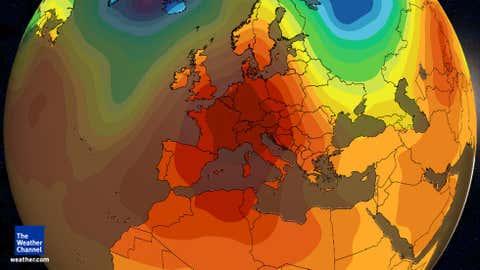 Europe warm pattern mid-December 2015.