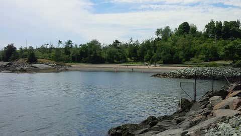 Black Rock Beach at Halifax's Point Pleasant Park. (Meghan Groff/NEWS 95.7)