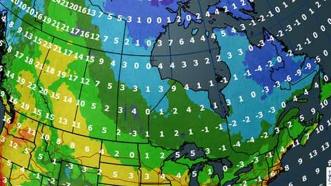 Canada forecast for Thursday, September 28, 2017.