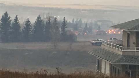 Wildfire near Coleman, Alberta. (Courtesy 660 News)