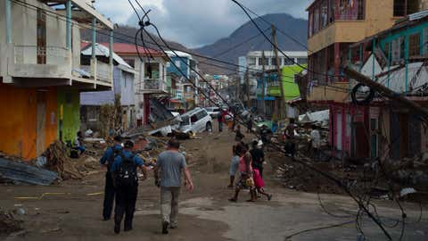 HMCS St Johns is working with Dominican officials as it helps with Hurricane Maria relief on the island.