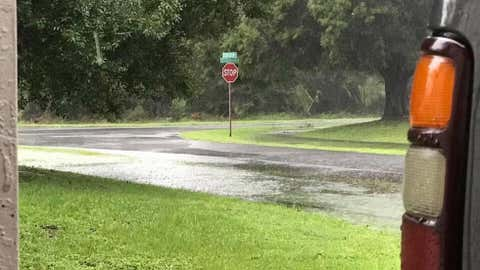 The streets in Palm City, Florida were beginning to flood during heavy rain from Hurricane Irma. (Tyler McComas/Submitted Photo)