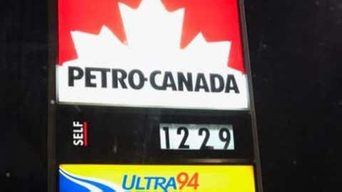 Friday morning gas price at the corner of Homer Watson and the 401. Photo by 570's Lisa Drew Twitter