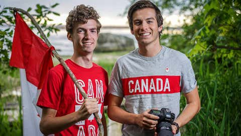 A travel budget of only $150 may not sound like enough for more than a day out of town, but two students from the University of British Columbia managed to cross the country for a total of $9.99 thanks to the generosity of strangers. Philippe Roberge (left) and Ori Nevares, shown in a handout photo, hitchhiked from Whitehorse to St. John's in an effort to see the country and mark Canada's 150th anniversary. THE CANADIAN PRESS/ HO-Expedition Canada 150 MANDATORY CREDIT