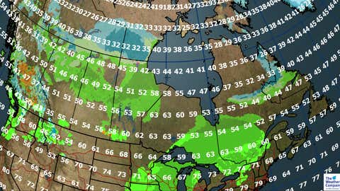Canada forecast for Saturday, Oct. 7. (The Weather Channel Canada)