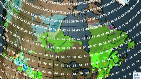 Canada forecast for Sunday, Oct. 8. (The Weather Channel Canada)