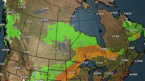 Canada forecast for Saturday, Sept. 22.