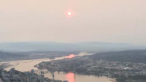 The sunrise through smoke and haze in Metro Vancouver. (Darren Grieve, NEWS 1130 Photo)