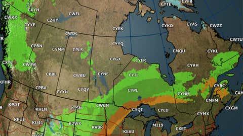 Canada weather forecast for Sunday, Sept. 24, 2017.