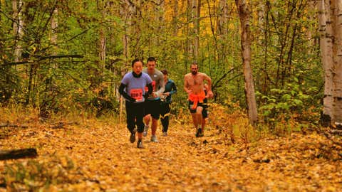 Alaska's Equinox Marathon is a tough, hilly trail race where virtually anything can happen when it comes to the weather, from 65 degrees with sunny skies to 8 inches of snow on the ground, race organizers say. (Courtesy Mark Conde/Equinox Marathon)