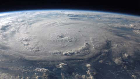 Powerful Category 5 Felix was photographed over the western Caribbean by a crew member aboard the International Space Station on September 3, 2007.