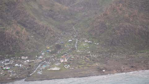 Aerial image of Fiji after Tropical Cyclone Winston. Images are from Koro, Lau, Taveuni and Rabi and parts of the Eastern and Northern Division, according to the government of Fiji. (Credit: New Zealand Defense Force)