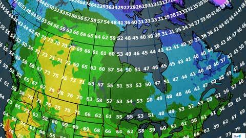 Canada forecast for Friday, September 29, 2017.