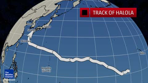 Track of Typhoon Halola in July 2015.
